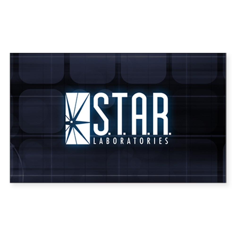 Star Labs Logo Rectangle Sticker