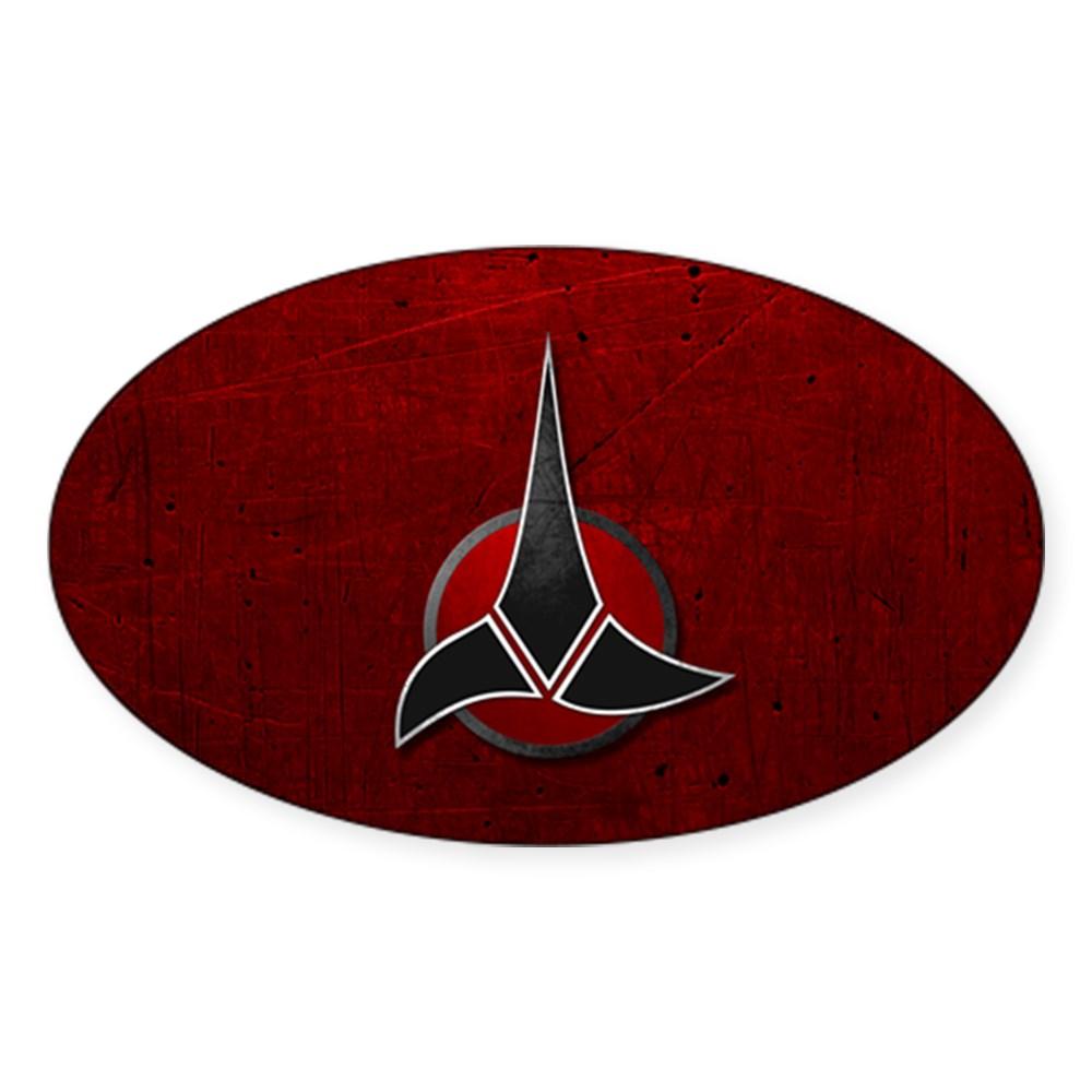 Klingon Emblem Oval Sticker