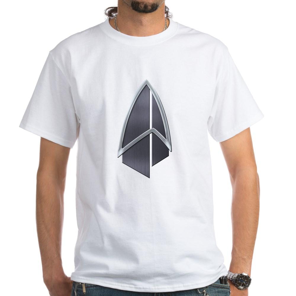 Starfleet Emblem/Comm Badge 2390s White T-Shirt