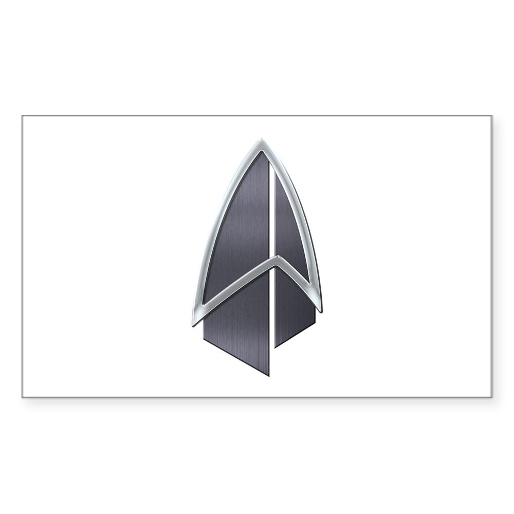 Starfleet Emblem/Comm Badge 2390s Rectangle Sticker