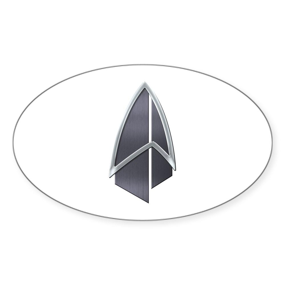 Starfleet Emblem/Comm Badge 2390s Oval Sticker
