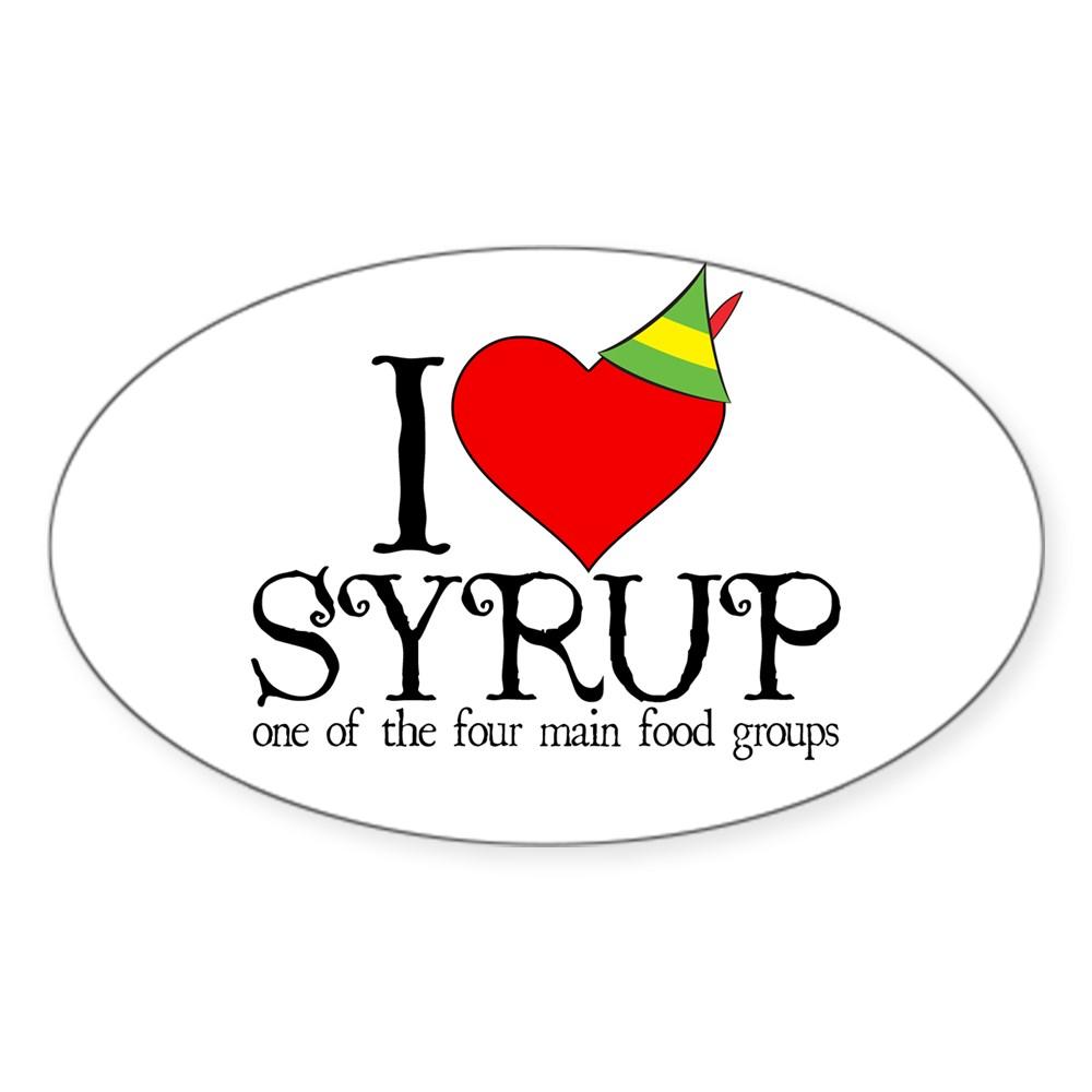 Elf - I Heart Syrup Oval Sticker