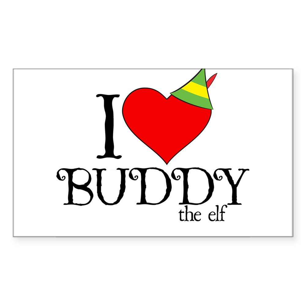 I Heart Buddy the Elf Rectangle Sticker