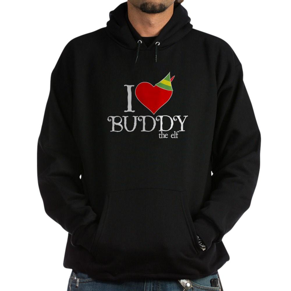 I Heart Buddy the Elf Dark Hoodie