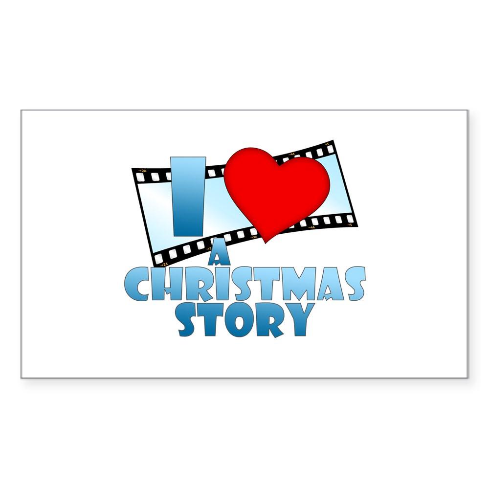 I Heart A Christmas Story Rectangle Sticker