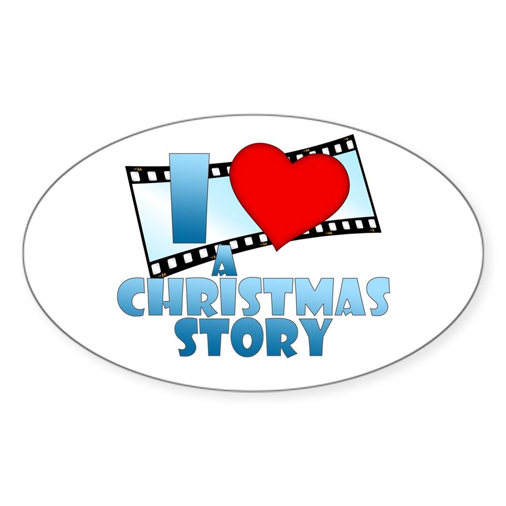 I Heart A Christmas Story Oval Sticker