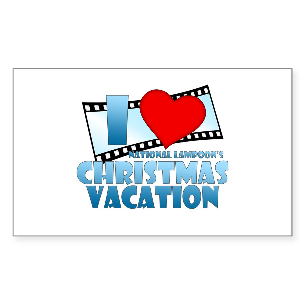 I Heart Christmas Vacation Rectangle Sticker
