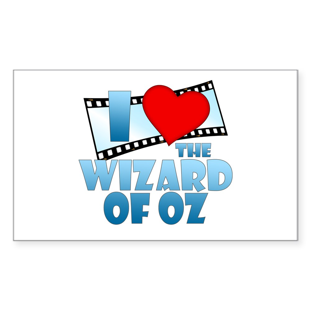 I Heart The Wizard of Oz Rectangle Sticker