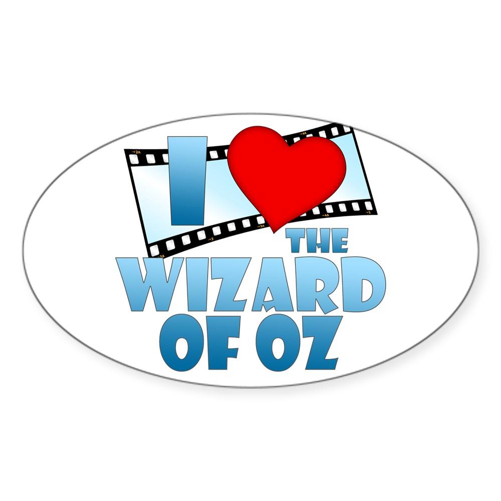 I Heart The Wizard of Oz Oval Sticker