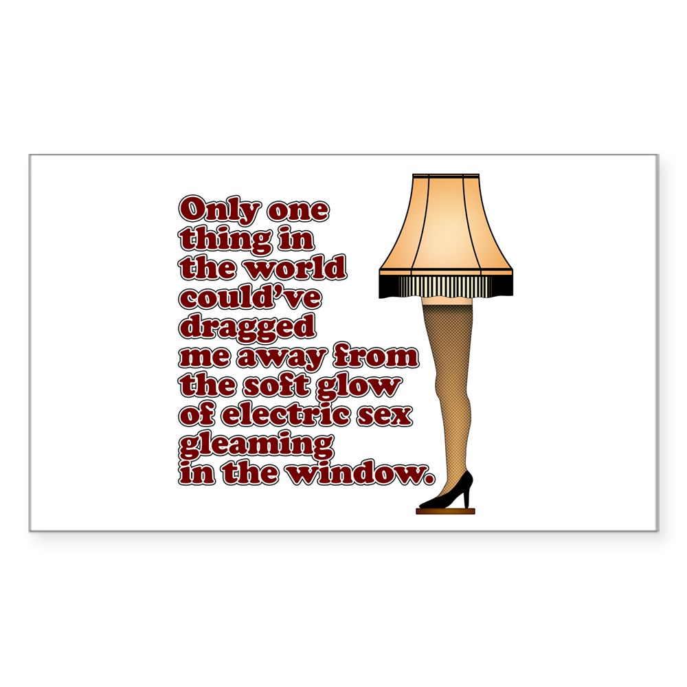 Soft Glow of Electric Sex Quote Rectangle Sticker