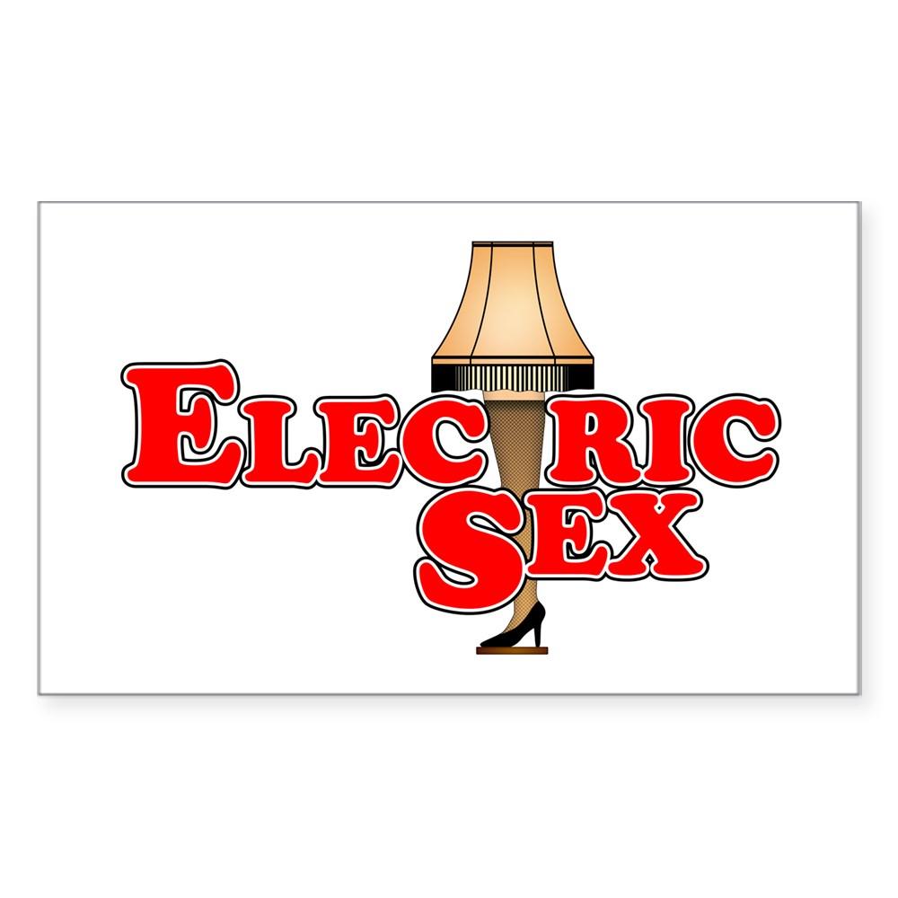 Electric Sex Leg Lamp Rectangle Sticker