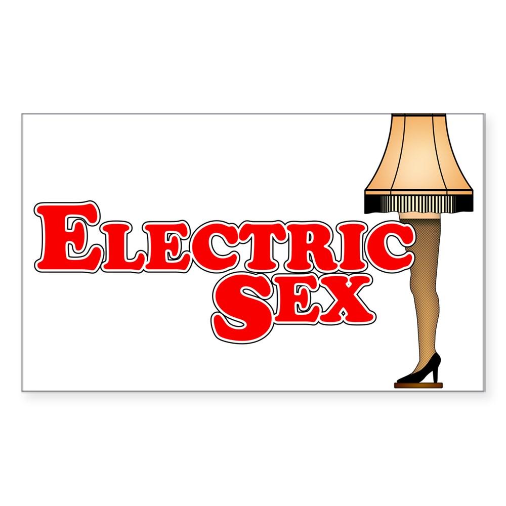 Electric Sex Leg Lamp 2 Rectangle Sticker