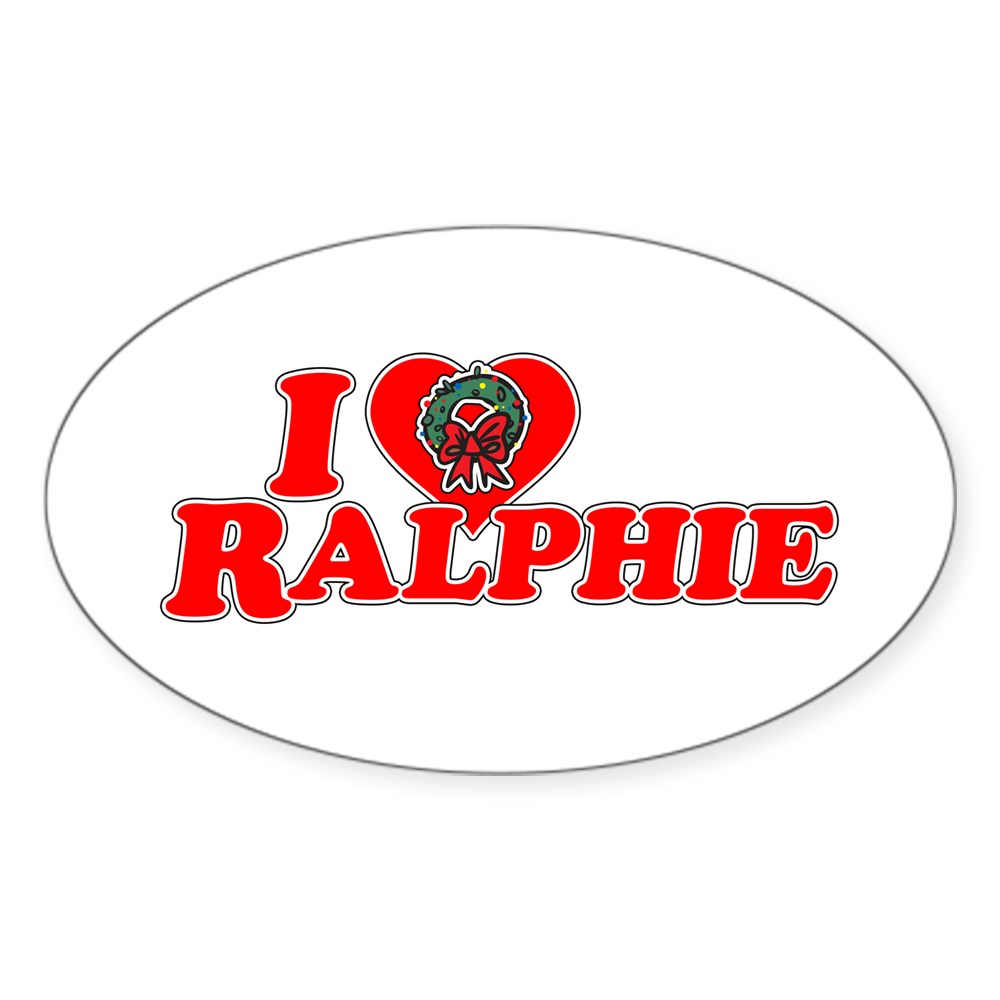 I Heart Ralphie Oval Sticker