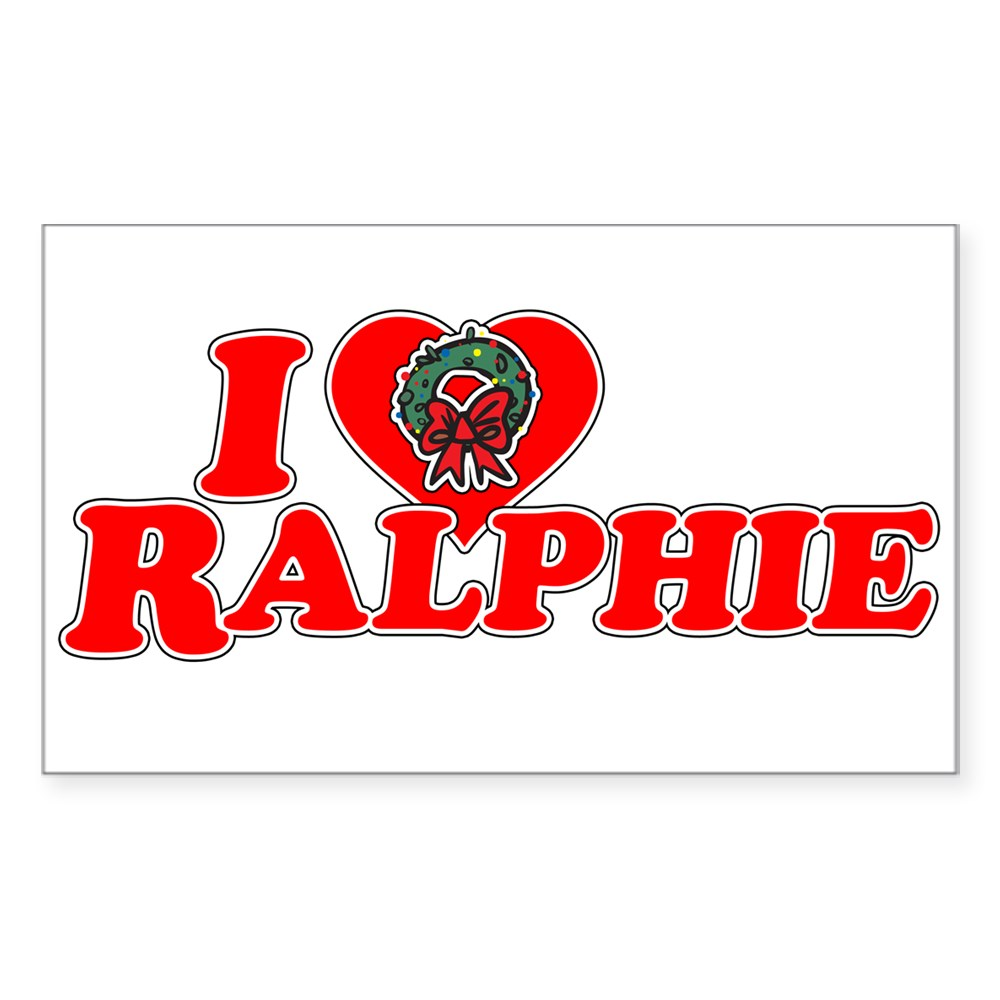 I Heart Ralphie Rectangle Sticker