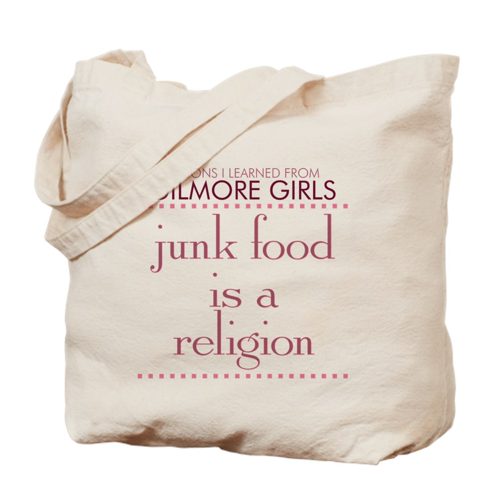 Junk Food is a Religion Tote Bag
