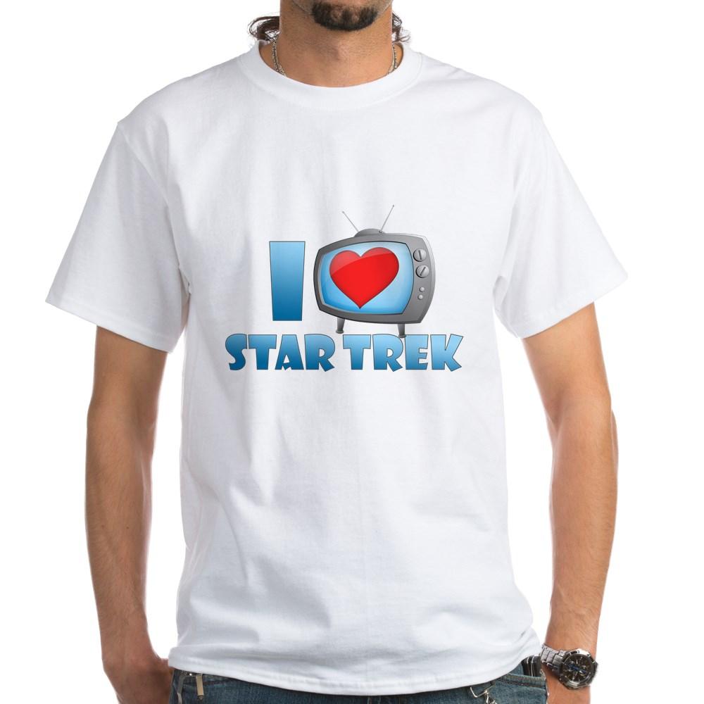 I Heart Star Trek White T-Shirt