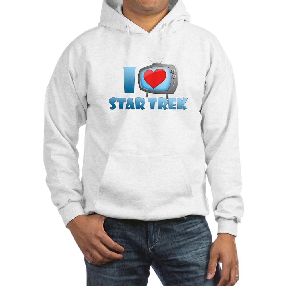 I Heart Star Trek Hooded Sweatshirt