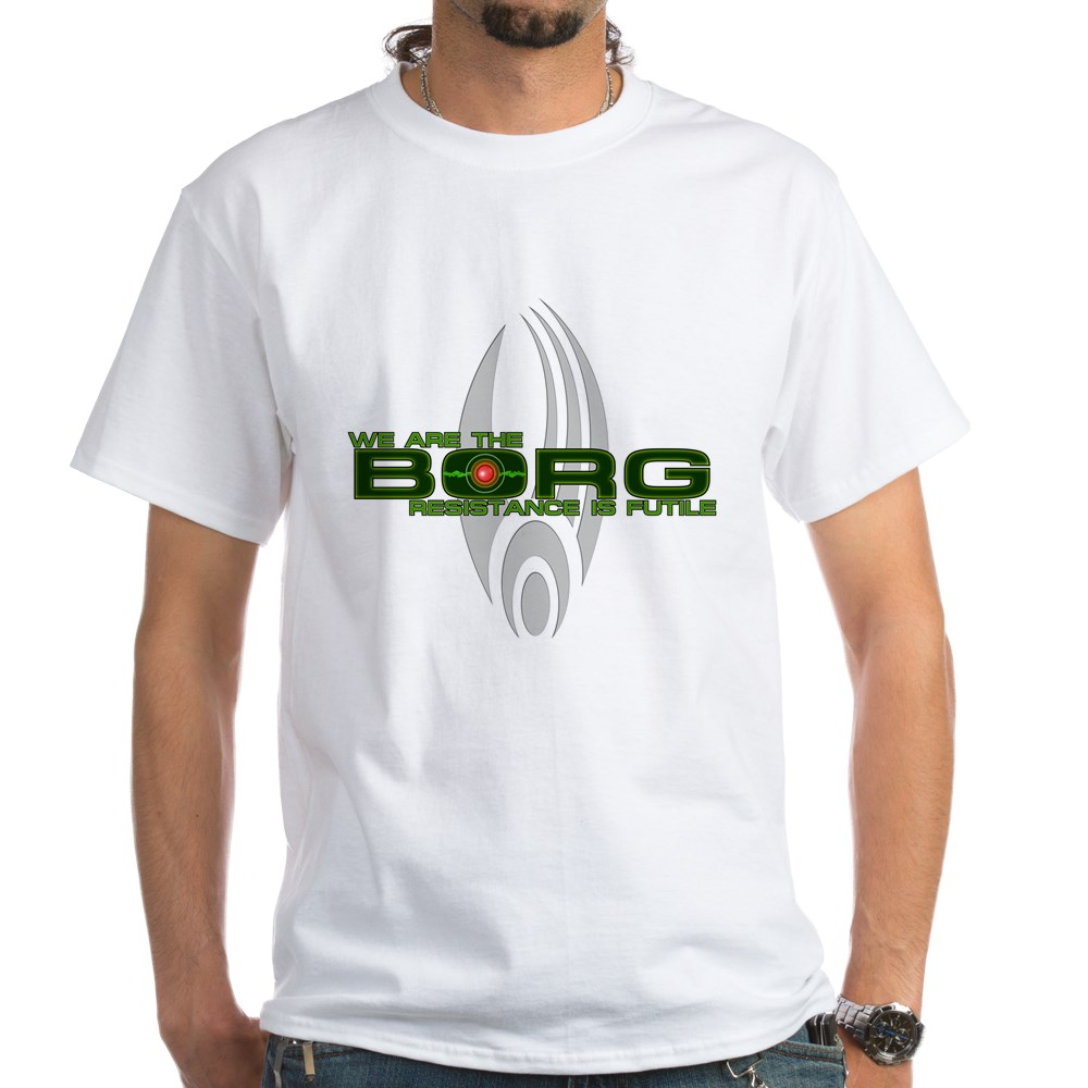 We Are the Borg - Resistance is Futile White T-Shirt