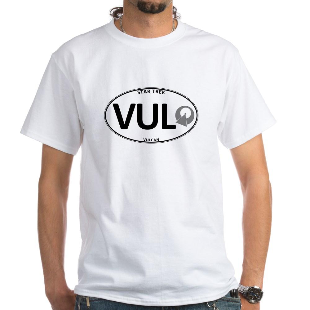Star Trek: Vulcan White Oval White T-Shirt