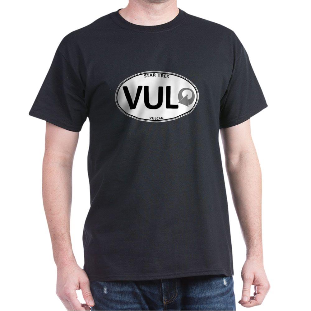 Star Trek: Vulcan White Oval Dark T-Shirt