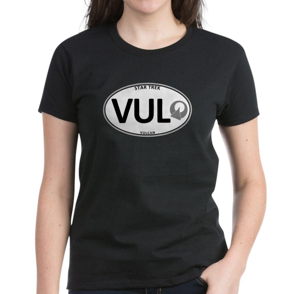 Star Trek: Vulcan White Oval Women's Dark T-Shirt