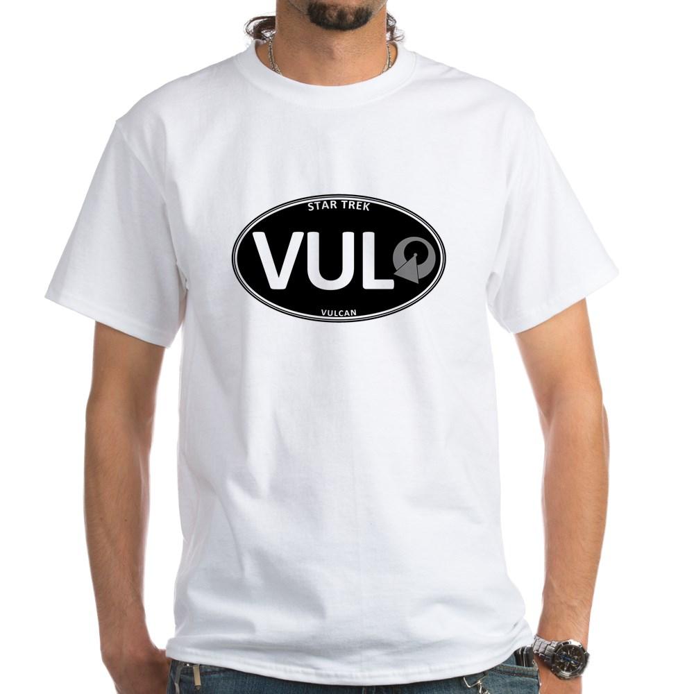 Star Trek: Vulcan Black Oval White T-Shirt