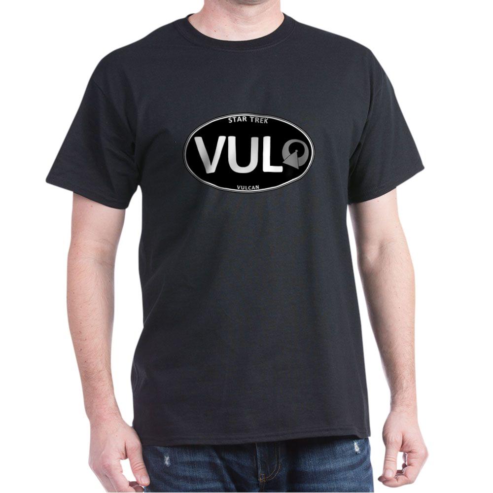 Star Trek: Vulcan Black Oval Dark T-Shirt