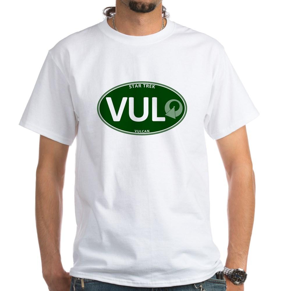 Star Trek: Vulcan Green Oval White T-Shirt