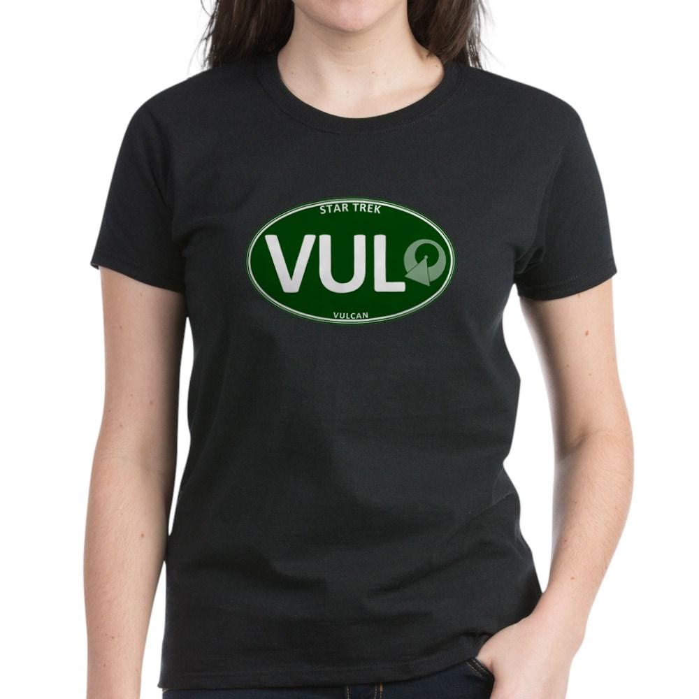 Star Trek: Vulcan Green Oval Women's Dark T-Shirt