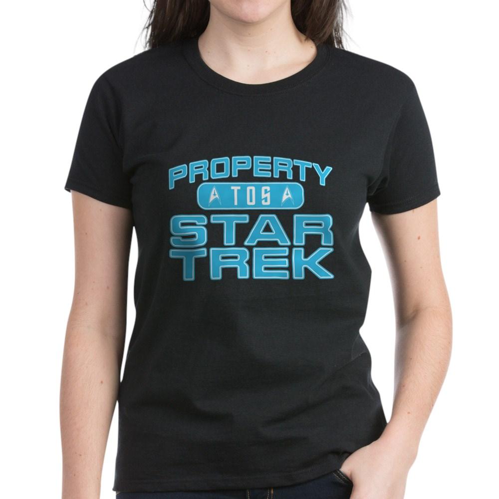 Blue Property Star Trek - TOS Women's Dark T-Shirt