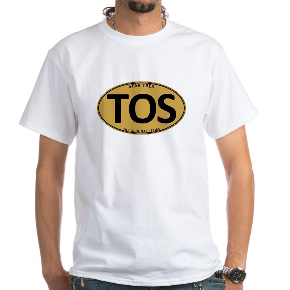 Star Trek: TOS Gold Oval White T-Shirt