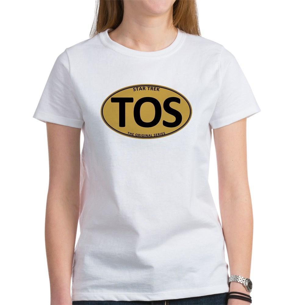Star Trek: TOS Gold Oval Women's T-Shirt