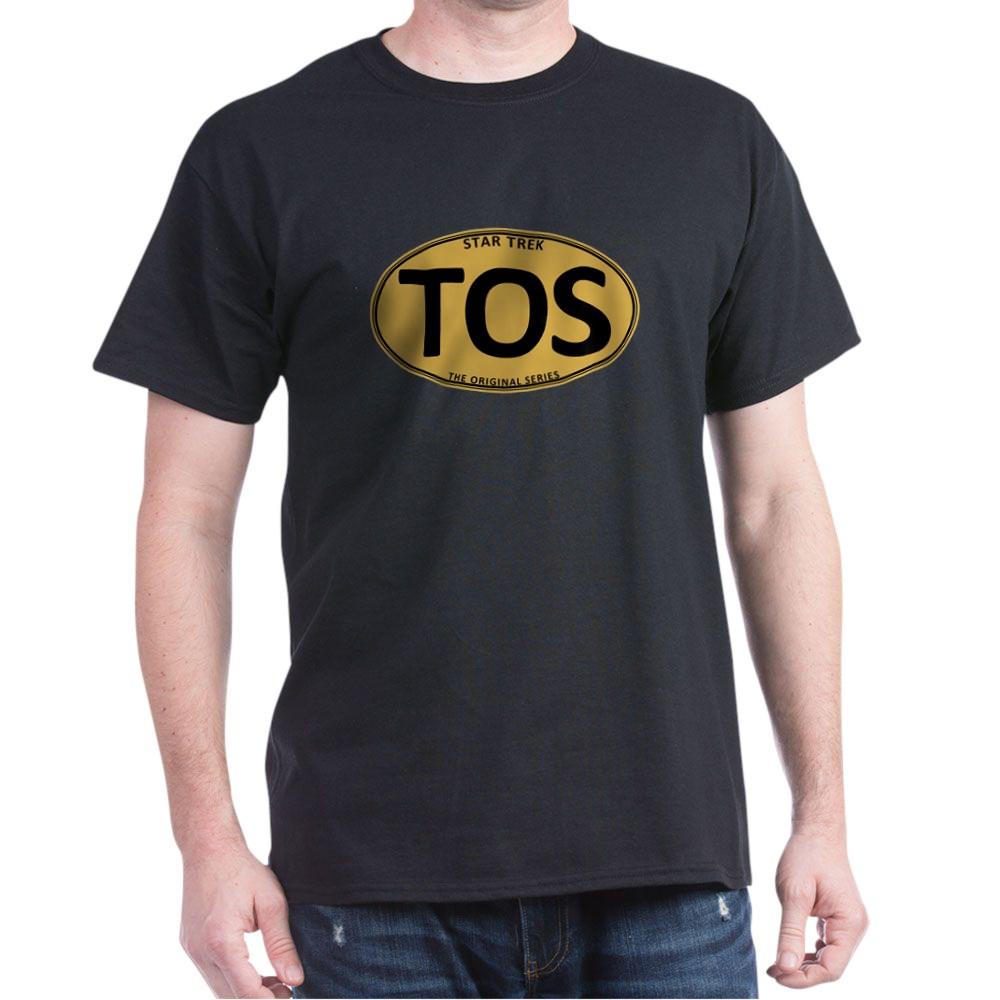 Star Trek: TOS Gold Oval Dark T-Shirt