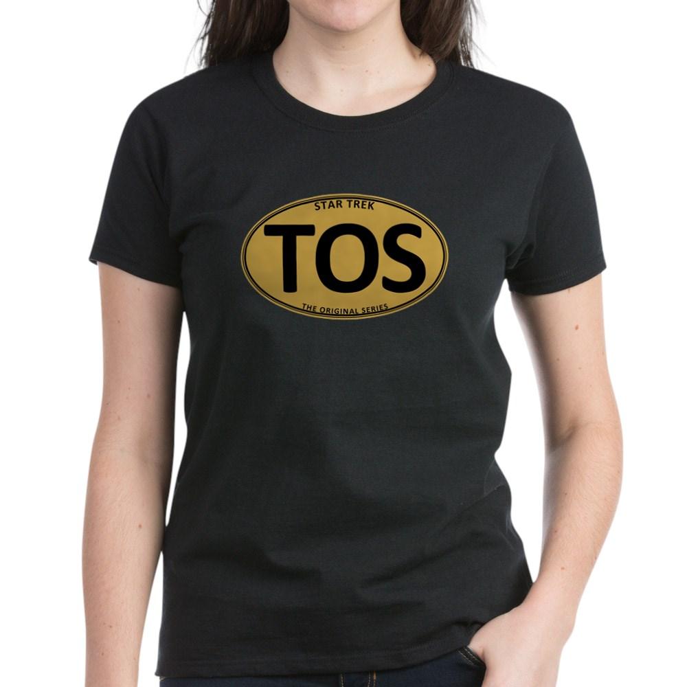 Star Trek: TOS Gold Oval Women's Dark T-Shirt