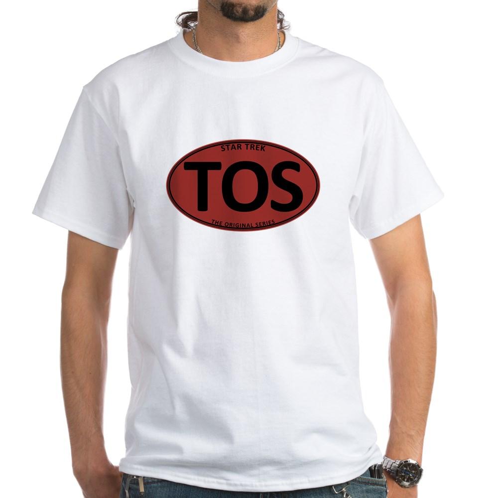 Star Trek: TOS Red Oval White T-Shirt