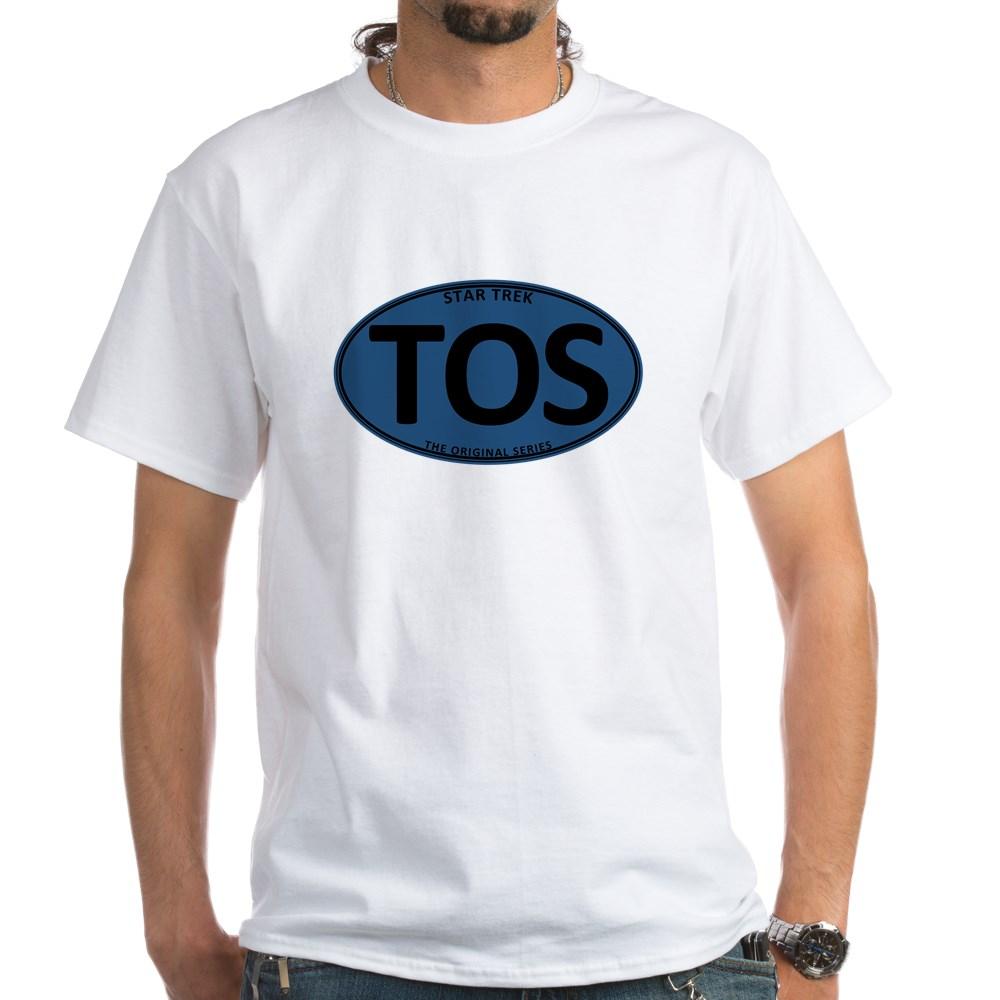 Star Trek: TOS Blue Oval White T-Shirt