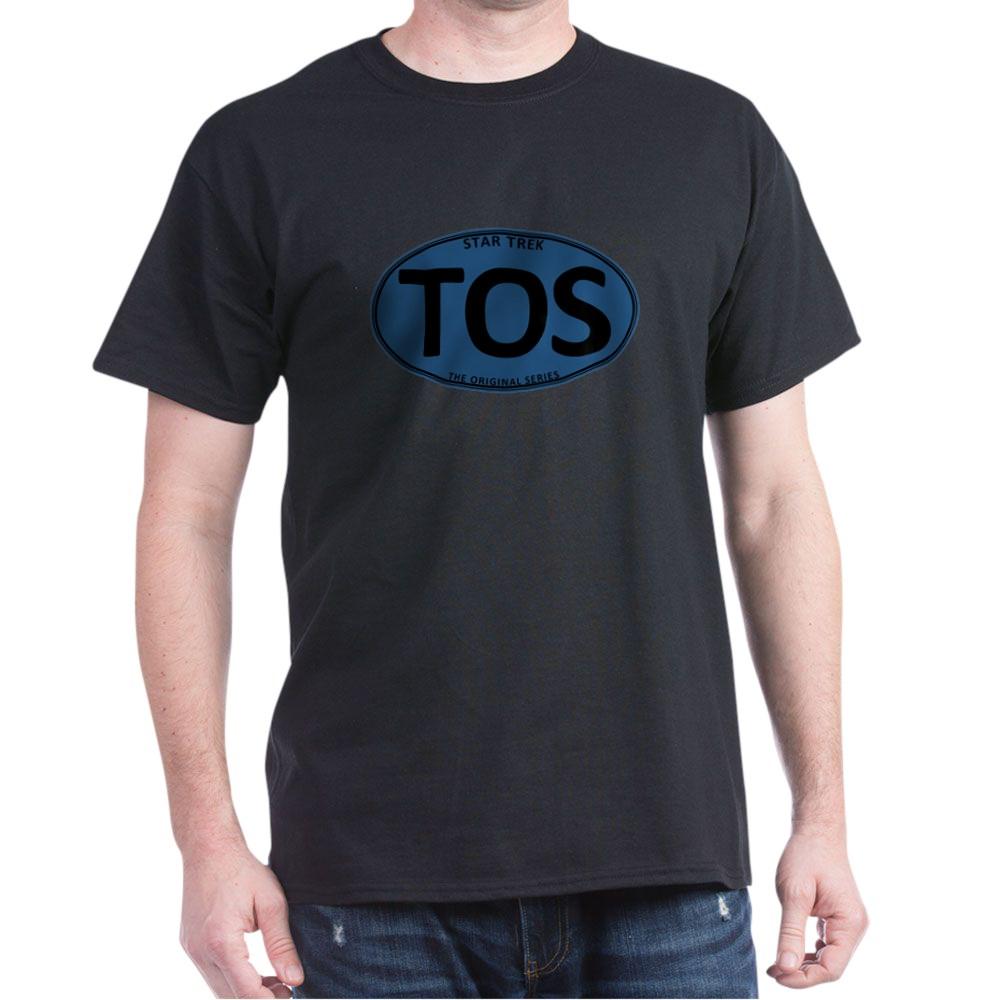 Star Trek: TOS Blue Oval Dark T-Shirt