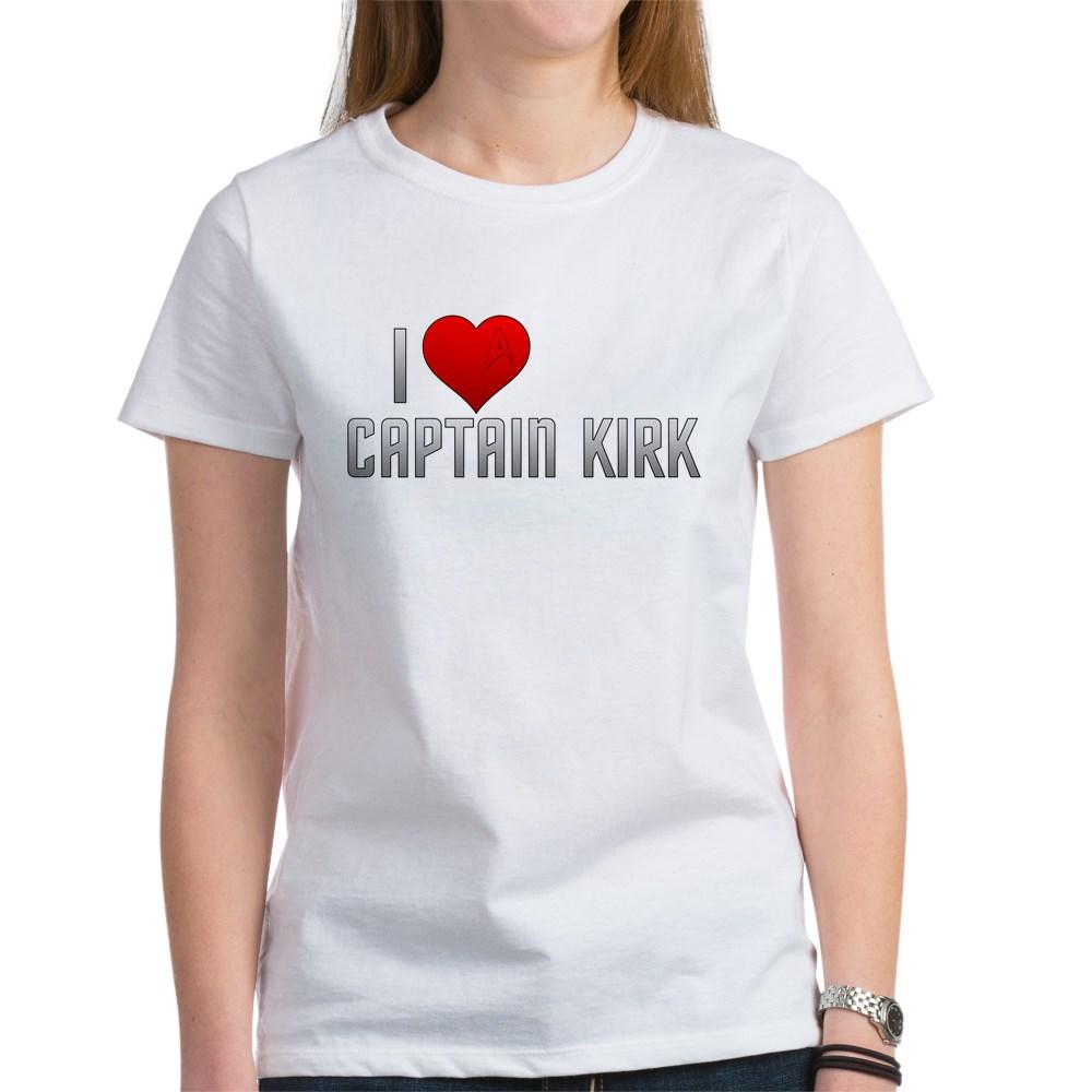 I Heart Captain Kirk Women's T-Shirt