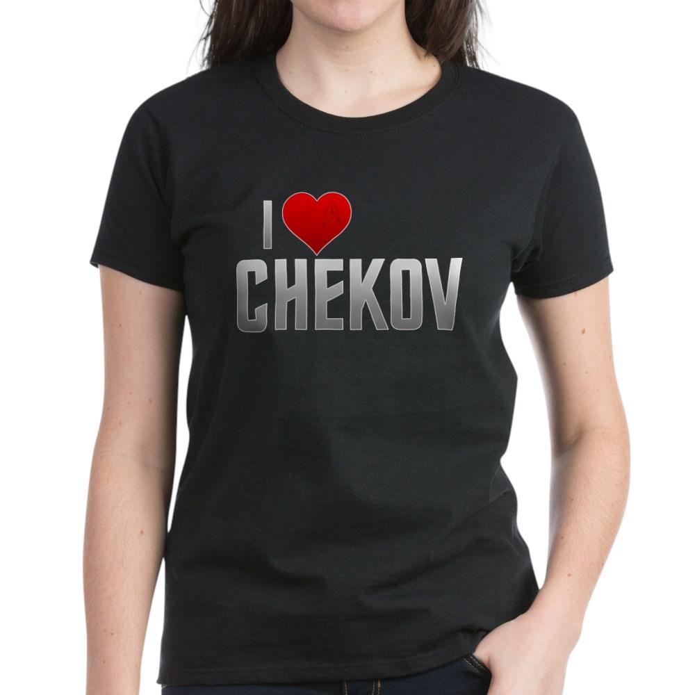 I Heart Chekov Women's Dark T-Shirt