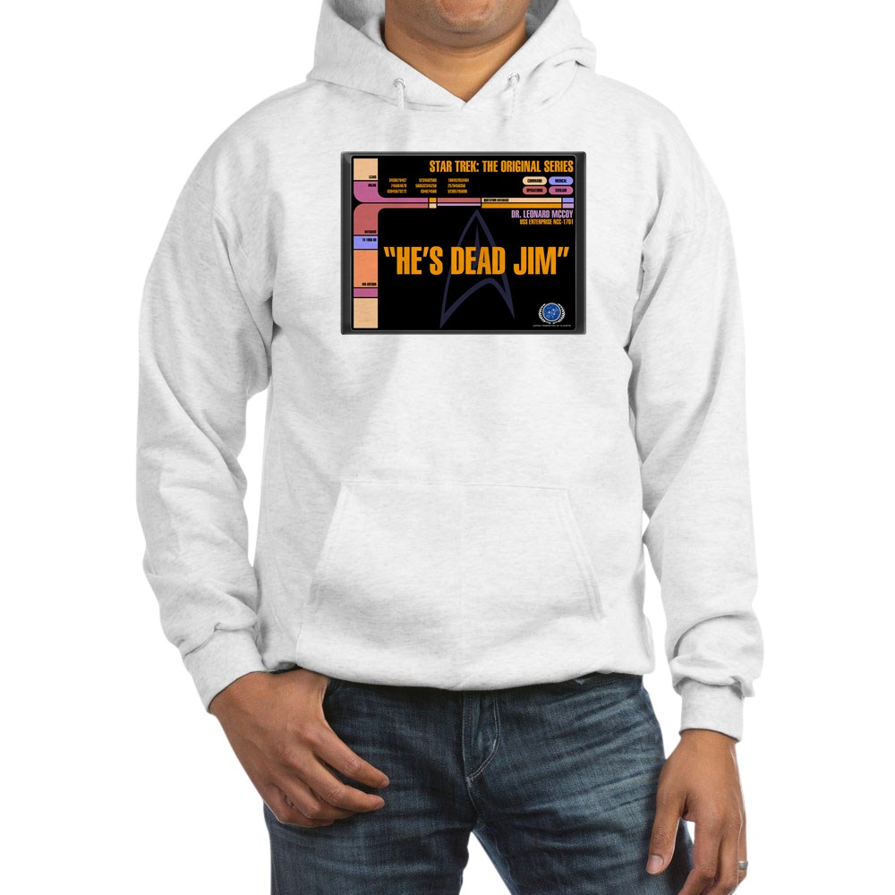 He's Dead Jim - LCARS Star Trek Quote Hooded Sweatshirt