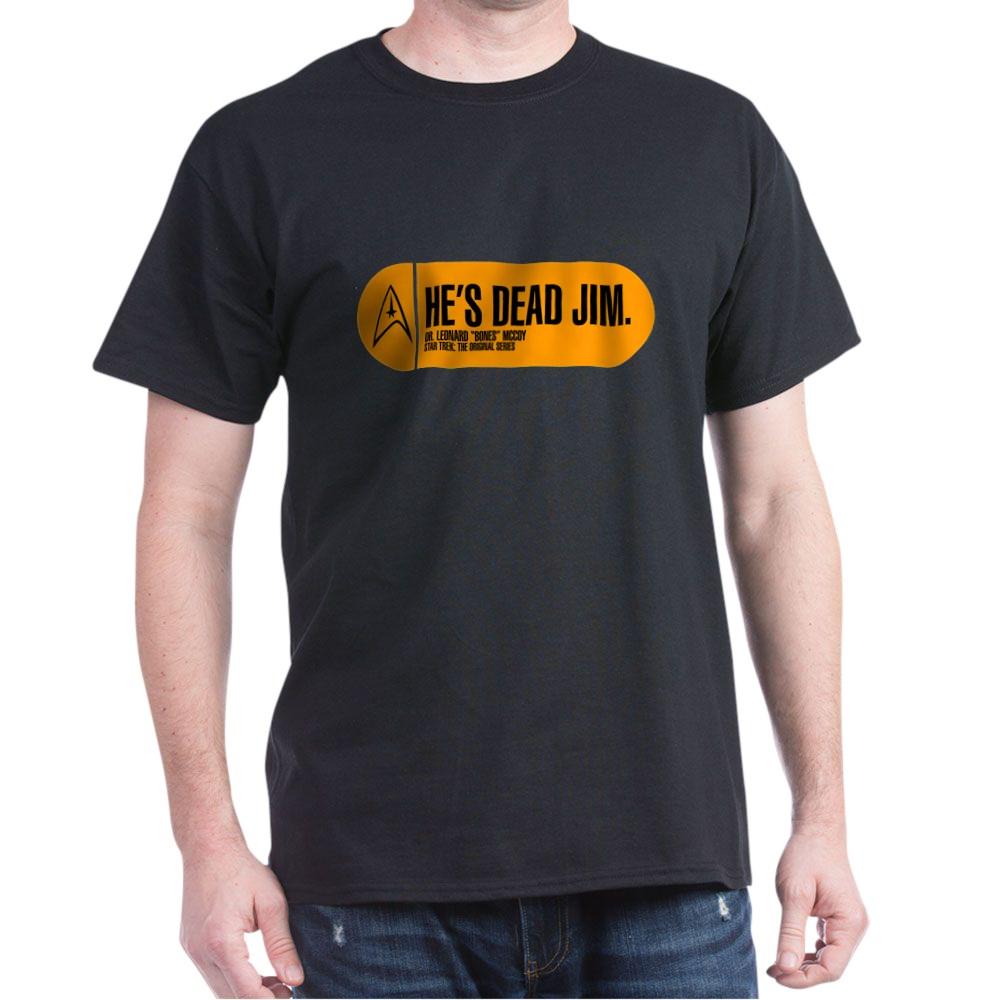 He's Dead Jim - Star Trek Quote Dark T-Shirt
