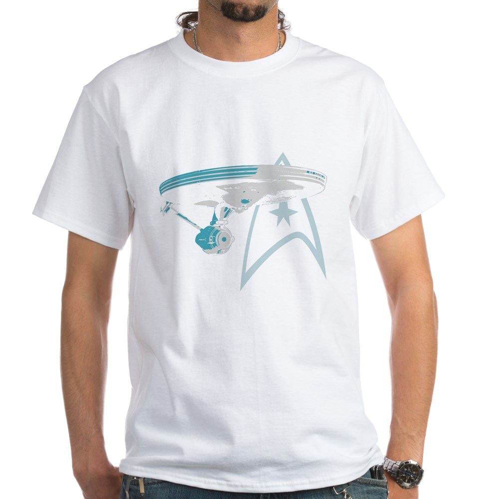 Star Trek Enterprise NCC-1701 White T-Shirt