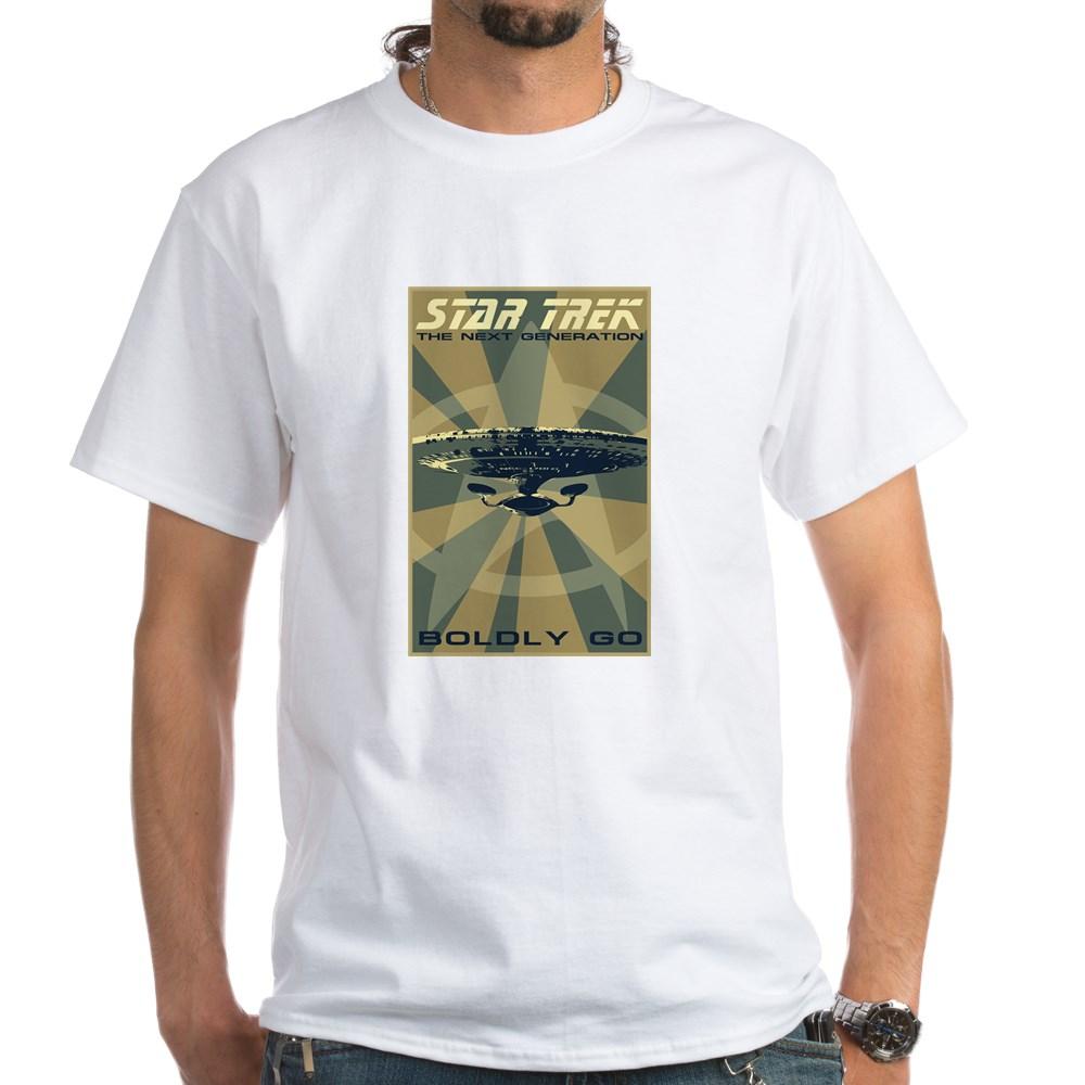 Retro Star Trek: The Next Generation Poster White T-Shirt