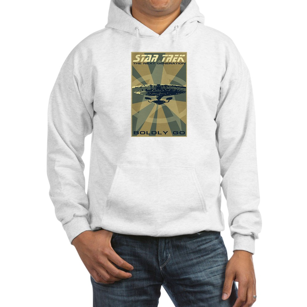 Retro Star Trek: The Next Generation Poster Hooded Sweatshirt