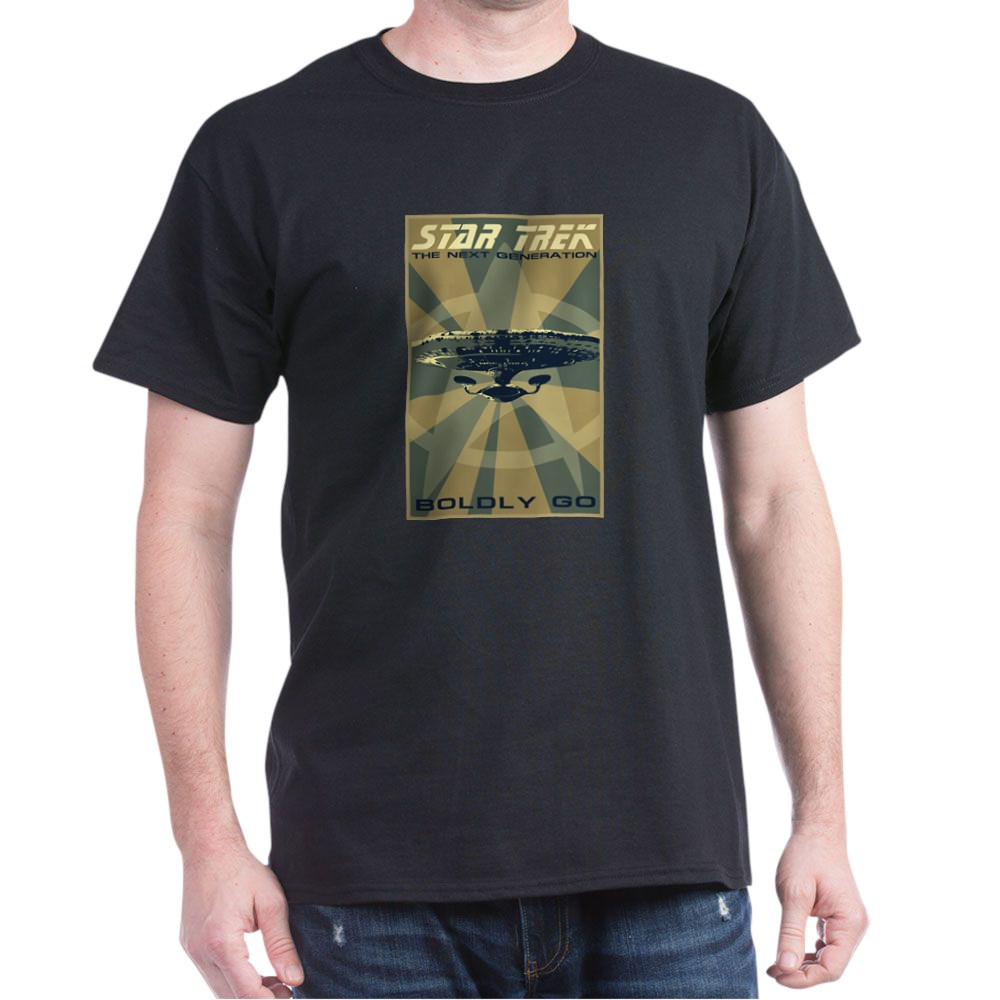 Retro Star Trek: The Next Generation Poster Dark T-Shirt