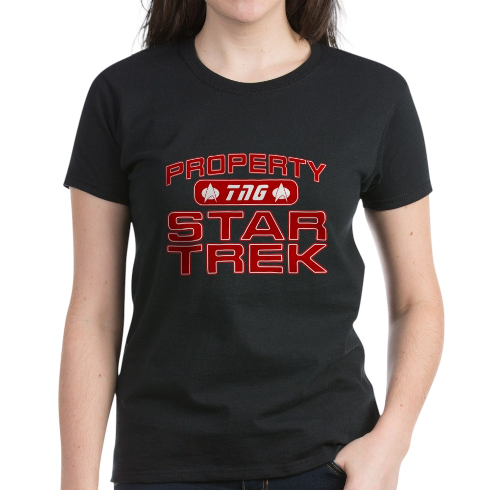 Red Property Star Trek - TNG Women's Dark T-Shirt