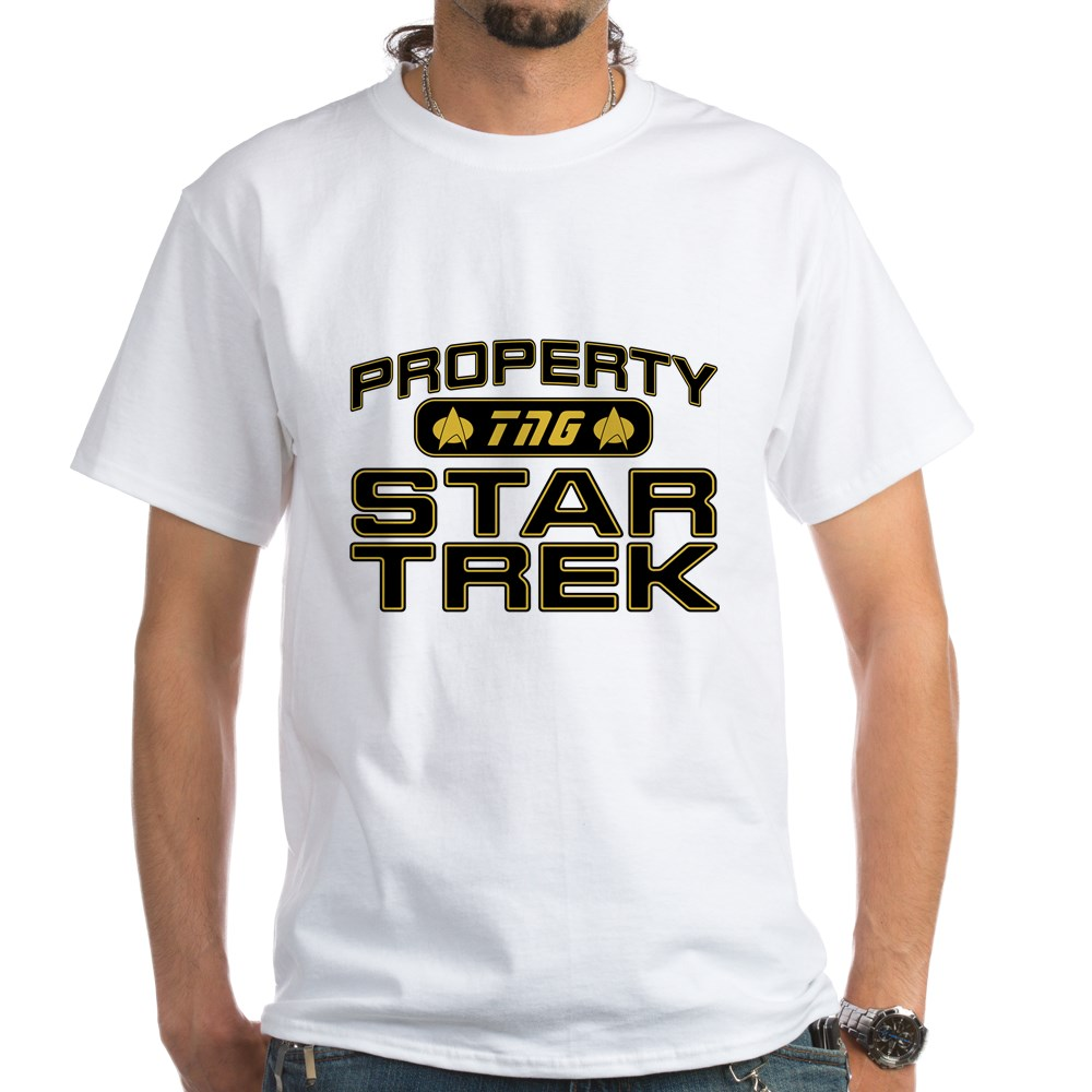 Gold Property Star Trek - TNG White T-Shirt