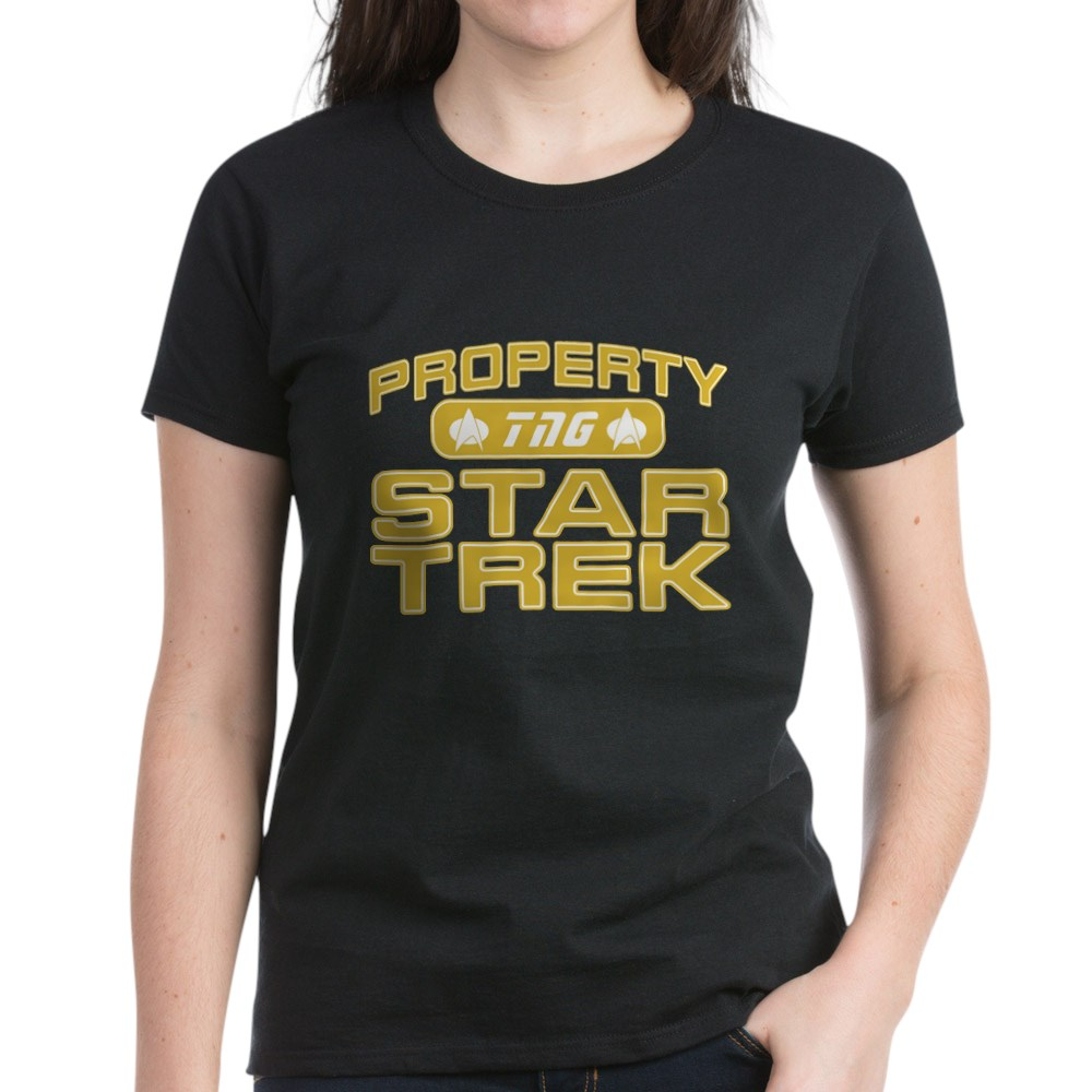 Gold Property Star Trek - TNG Women's Dark T-Shirt