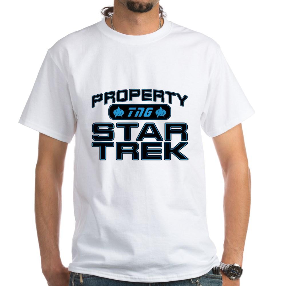 Blue Property Star Trek - TNG White T-Shirt