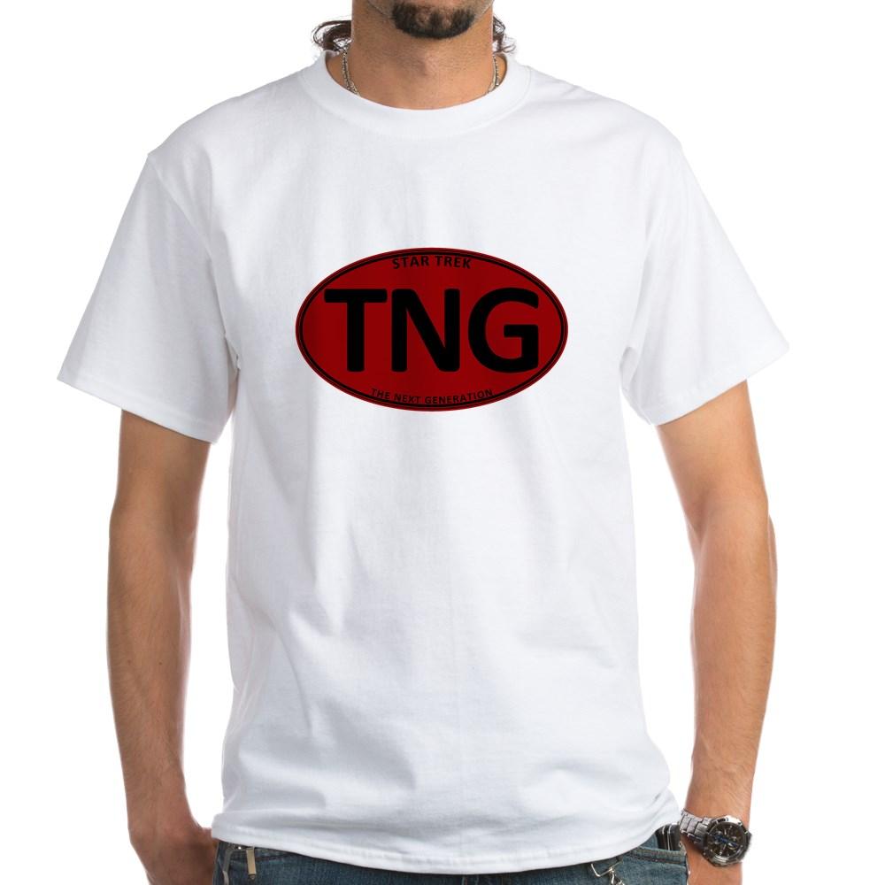 Star Trek: TNG Red Oval White T-Shirt